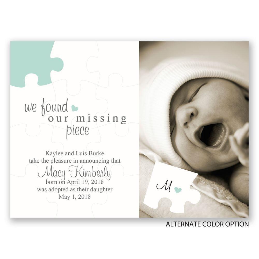 The missing piece petite adoption announcement invitations by dawn the missing piece petite adoption announcement colourmoves
