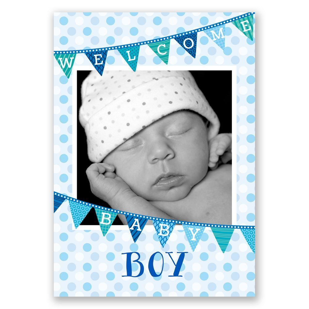 Welcome Baby Boy Birth Announcement | Invitations By Dawn