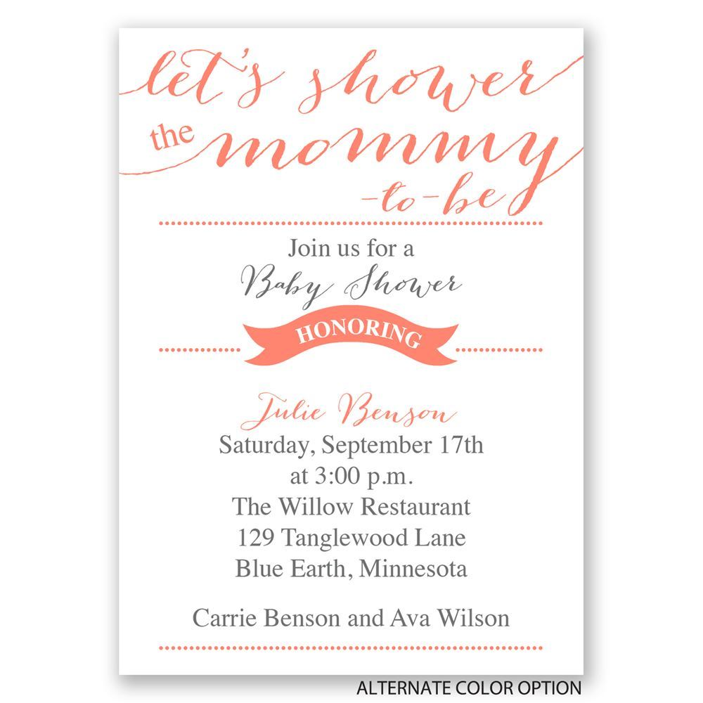Let S Shower Mommy Mini Baby Shower Invitation
