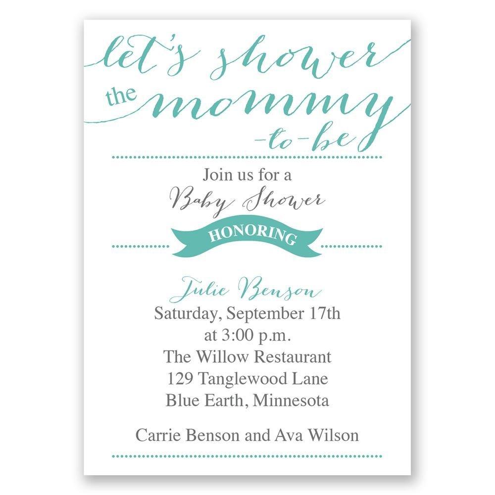 Lets shower mommy mini baby shower invitation invitations by dawn lets shower mommy mini baby shower invitation filmwisefo