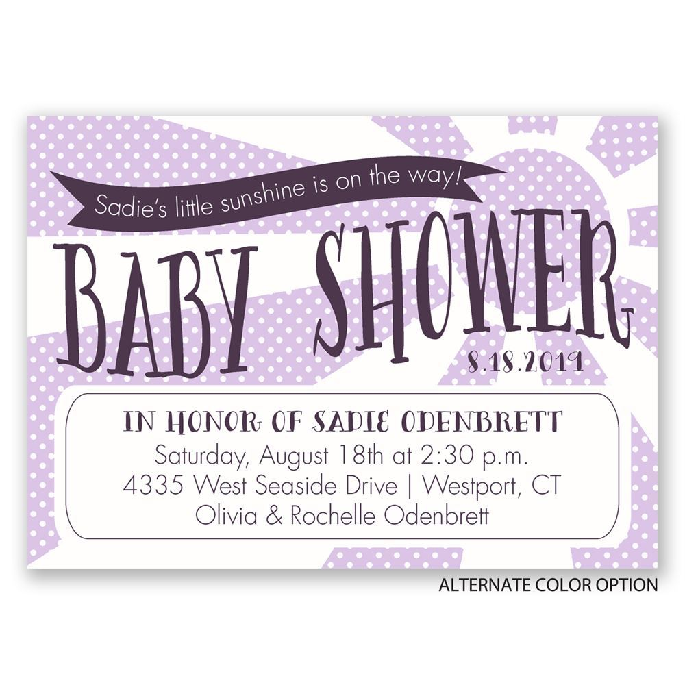 Little Sunshine Mini Baby Shower Invitation | Invitations By Dawn