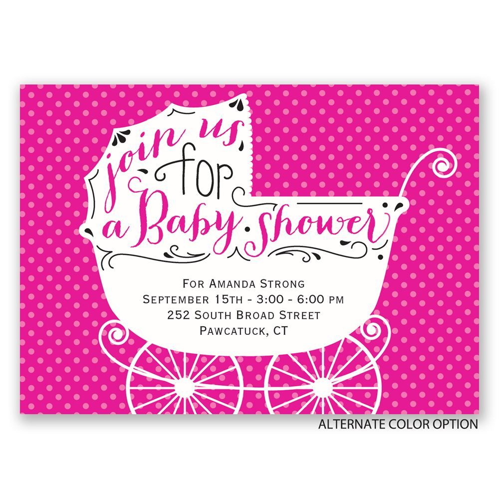 Baby Carriage Mini Baby Shower Invitation | Invitations By Dawn