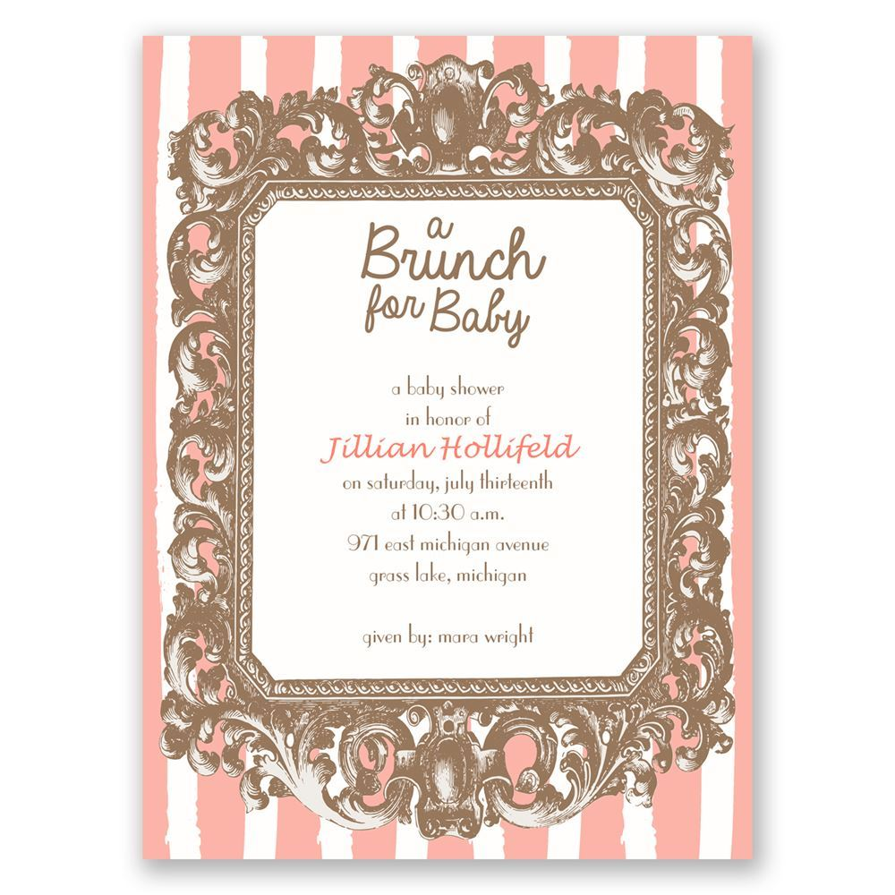 Brunch for Baby Petite Baby Shower Invitation | Invitations By Dawn