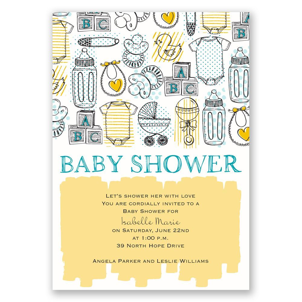 The Necessities Baby Shower Invitation | Invitations By Dawn