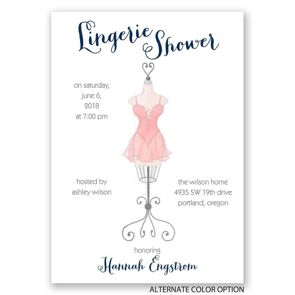 Lingerie Bridal Shower Invitation 63