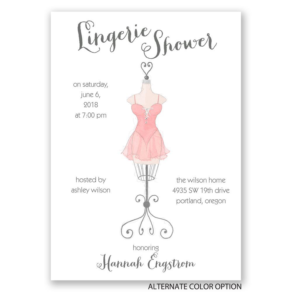 Lingerie Shower Invitation Wording 77