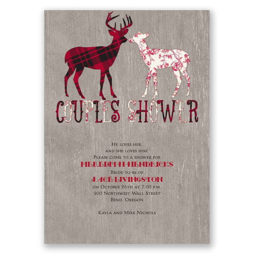 Buck and doe wedding shower invitation invitations by dawn for Invitations for wedding shower