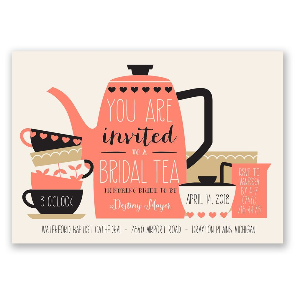 bridal tea bridal shower invitation
