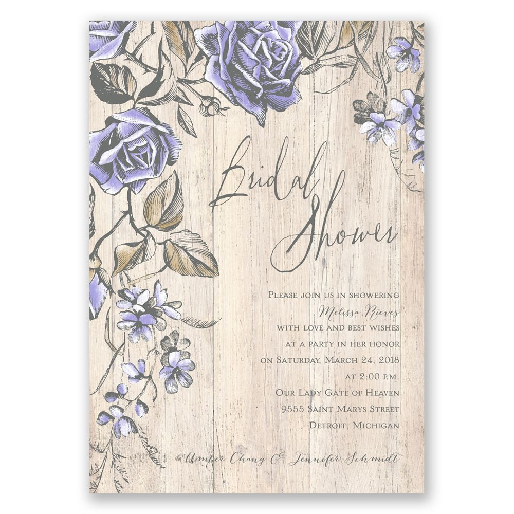 Rustic Rose Bridal Shower Invitation | Invitations By Dawn