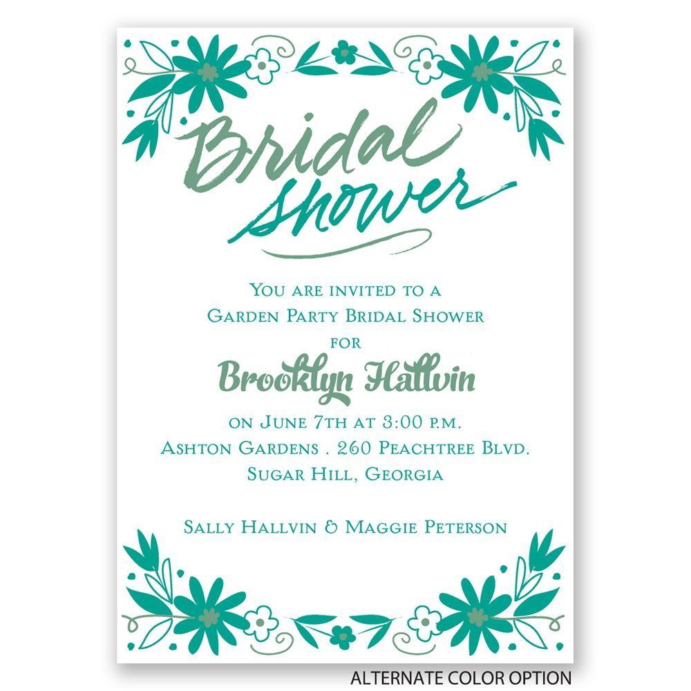 Floral Splash Mini Bridal Shower Invitation