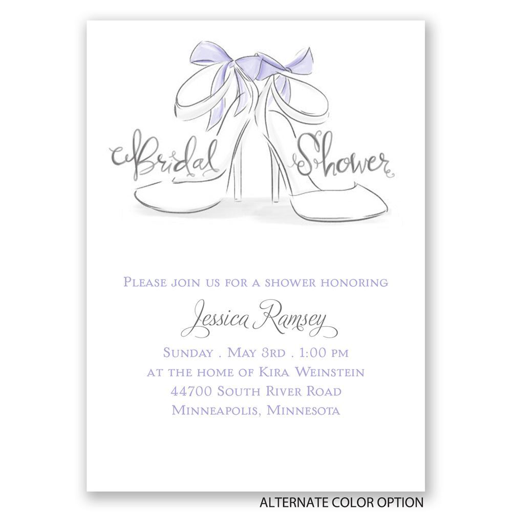 wedding shoes mini bridal shower invitation