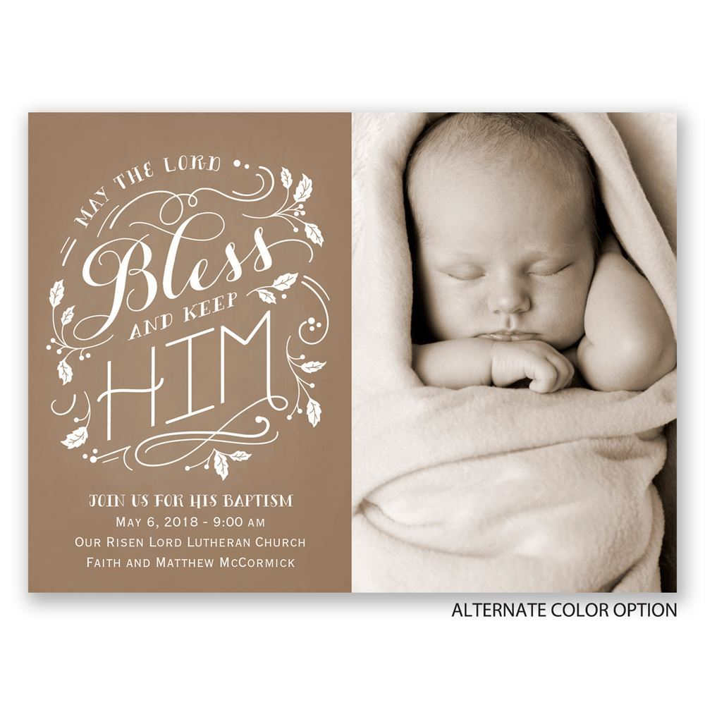 Bless Him Petite Baptism Invitation Invitations By Dawn