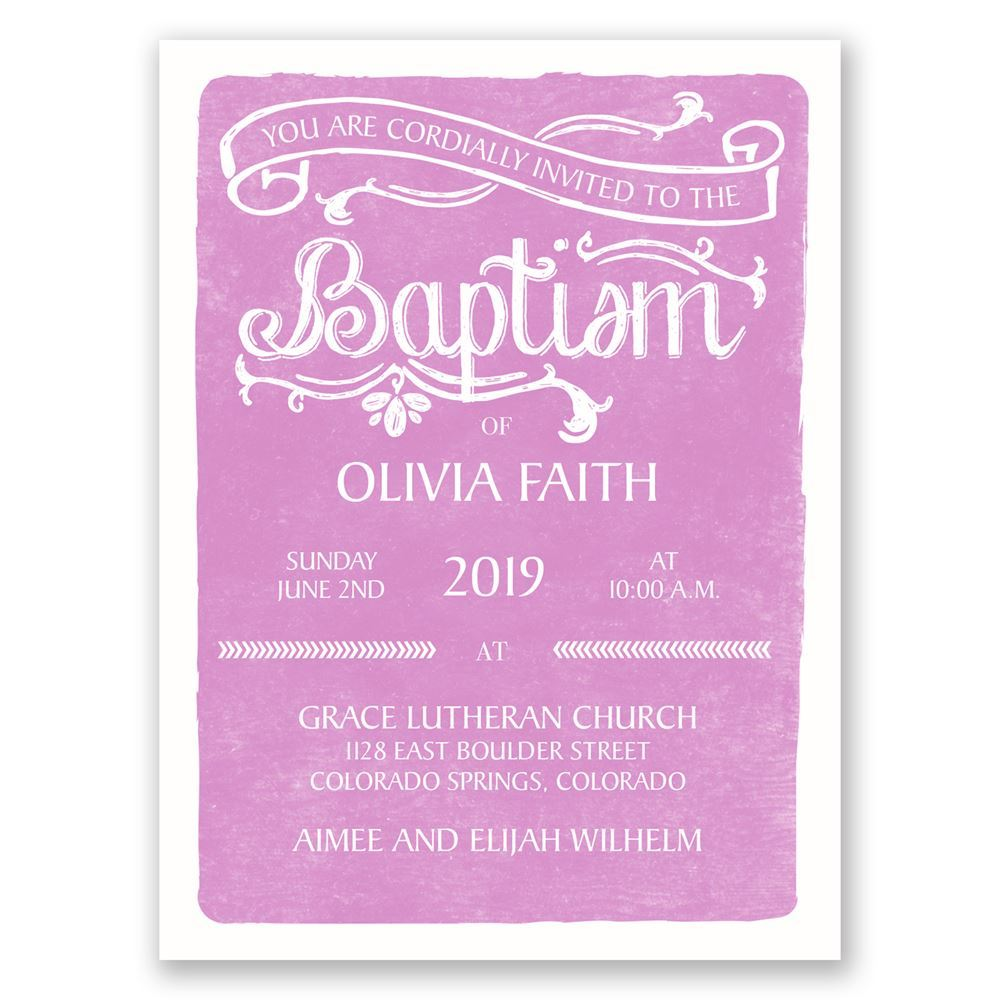 elegant traditions petite baptism invitation invitations by dawn