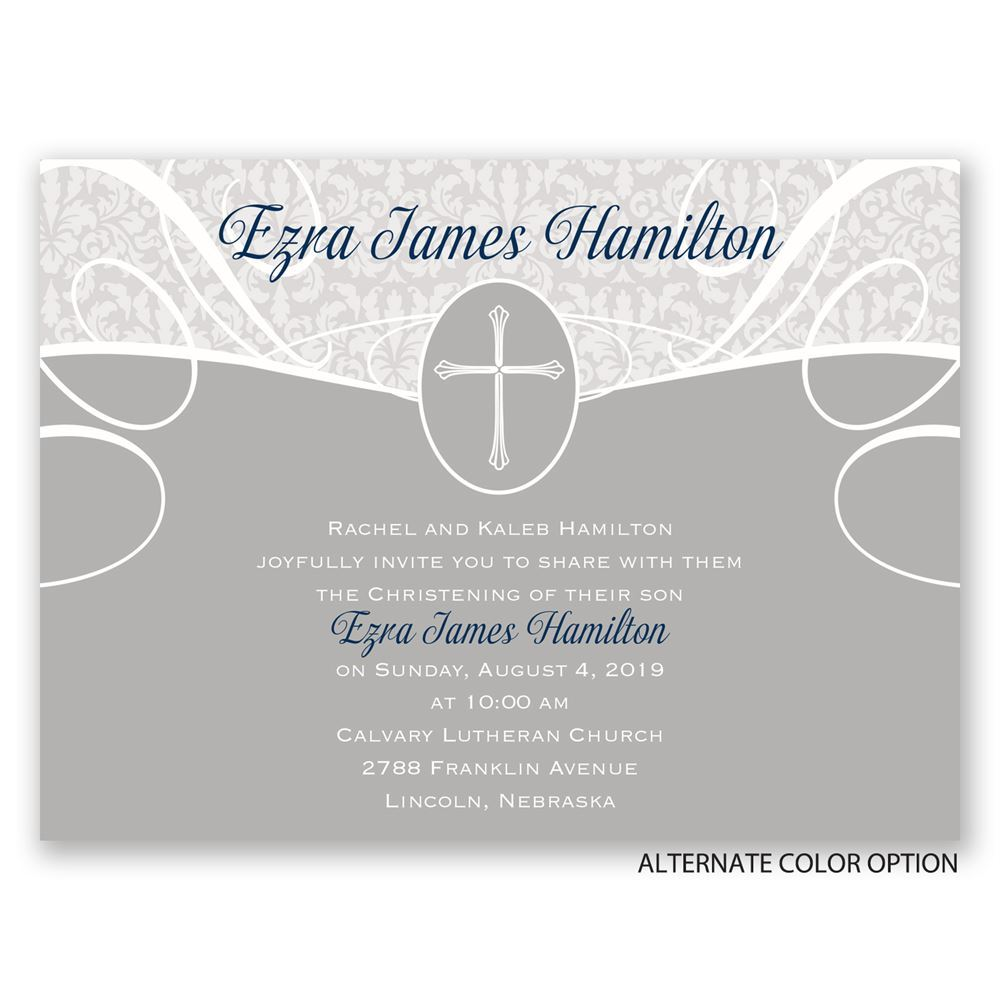 Vintage Faith Petite Baptism Invitation Invitations By Dawn