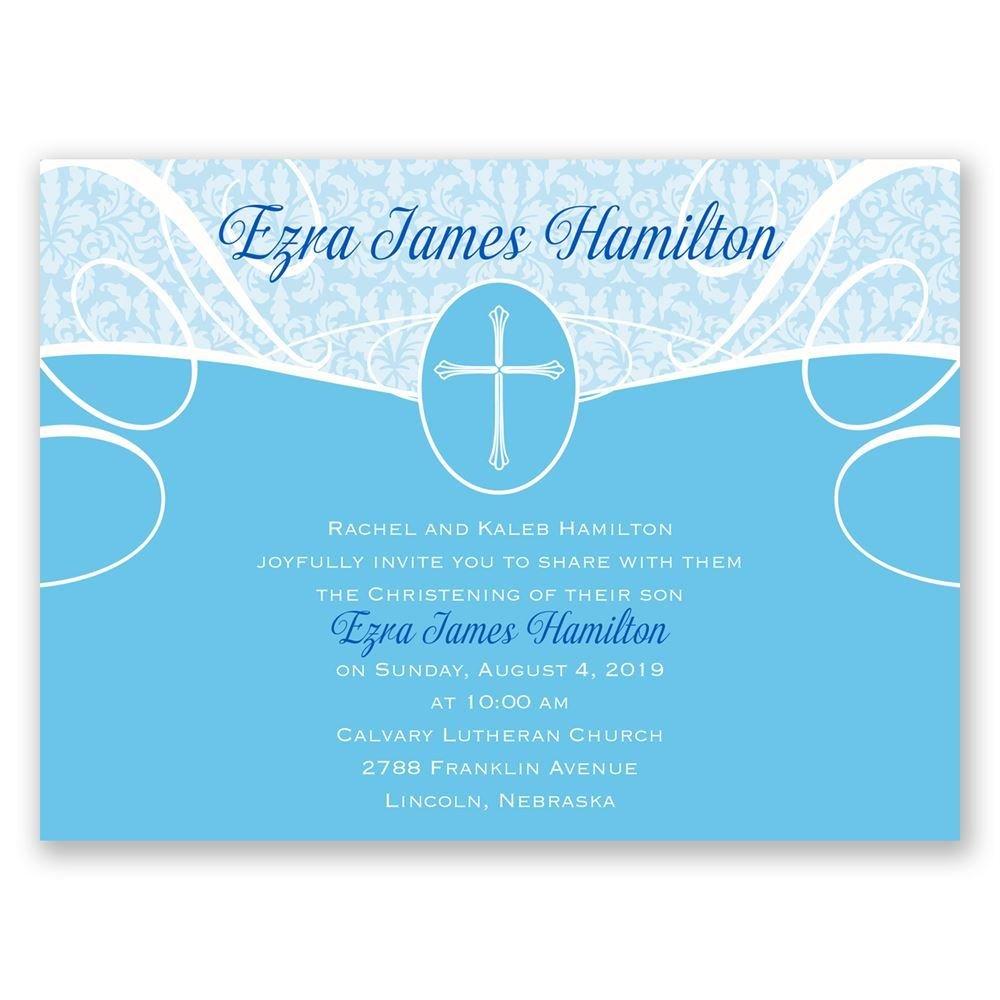 Vintage Faith Petite Baptism Invitation Invitations By Dawn
