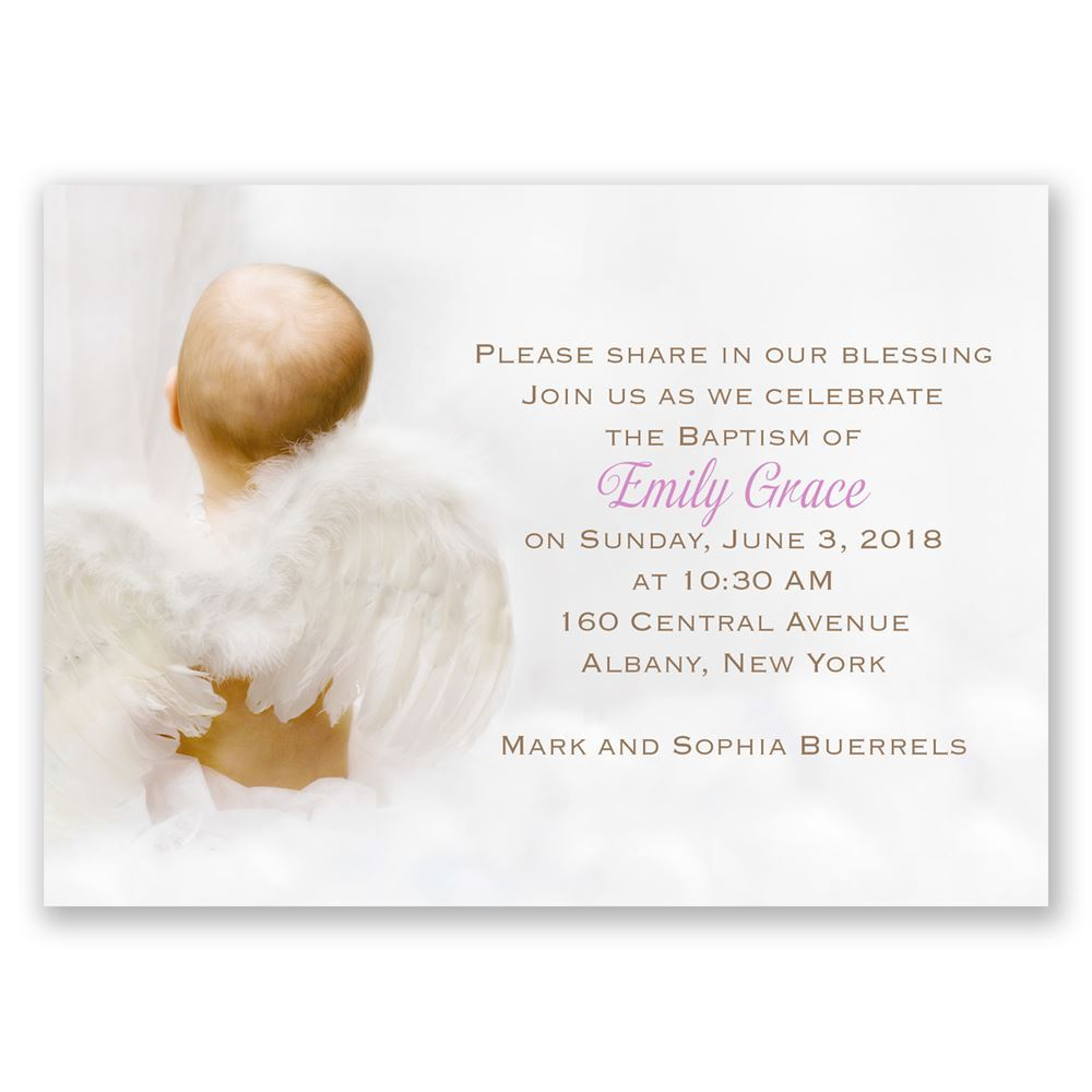 Little Angel Mini Baptism Invitation Invitations By Dawn