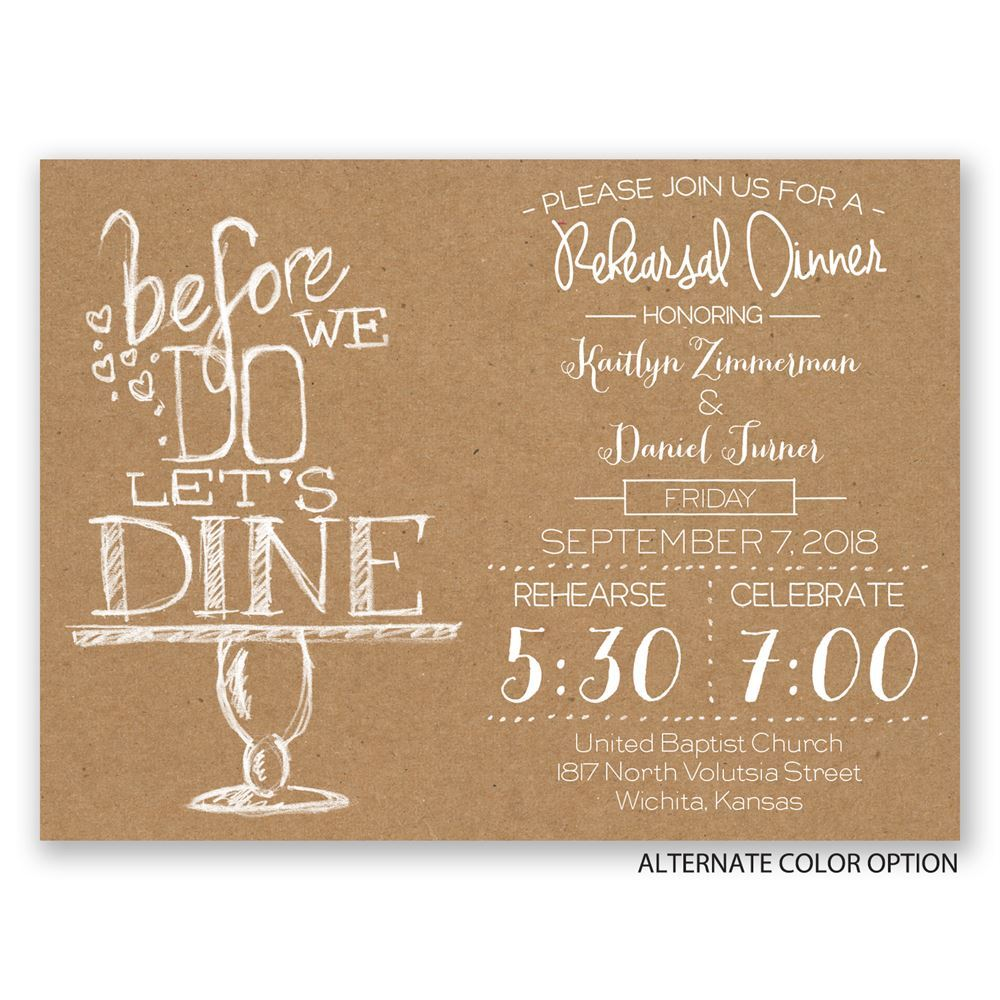 On Display Petite Rehearsal Dinner Invitation Invitations By Dawn