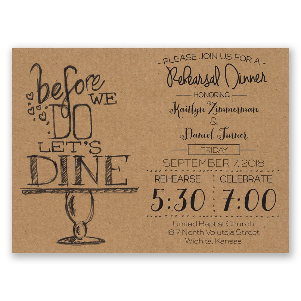 on display petite rehearsal dinner invitation invitations by dawn