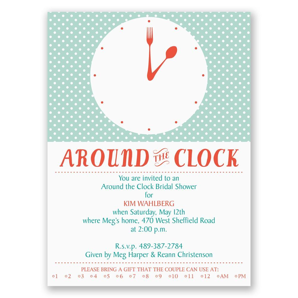 Modern Times Petite Bridal Shower Invitation Invitations By Dawn
