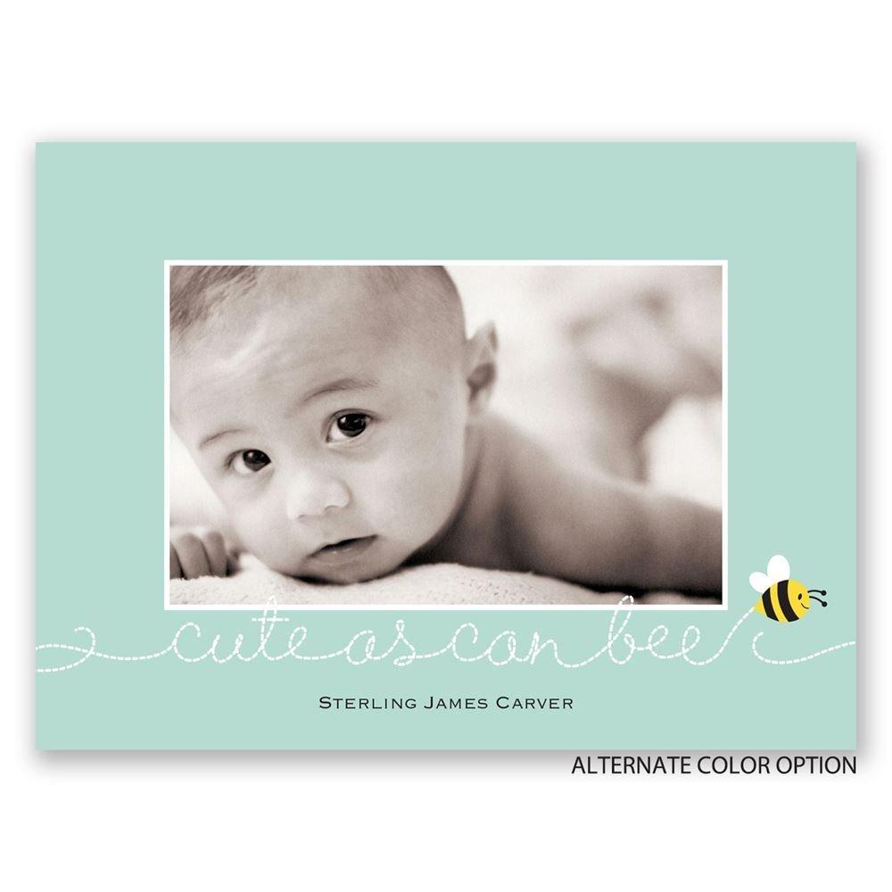 bee cute petite birth announcement