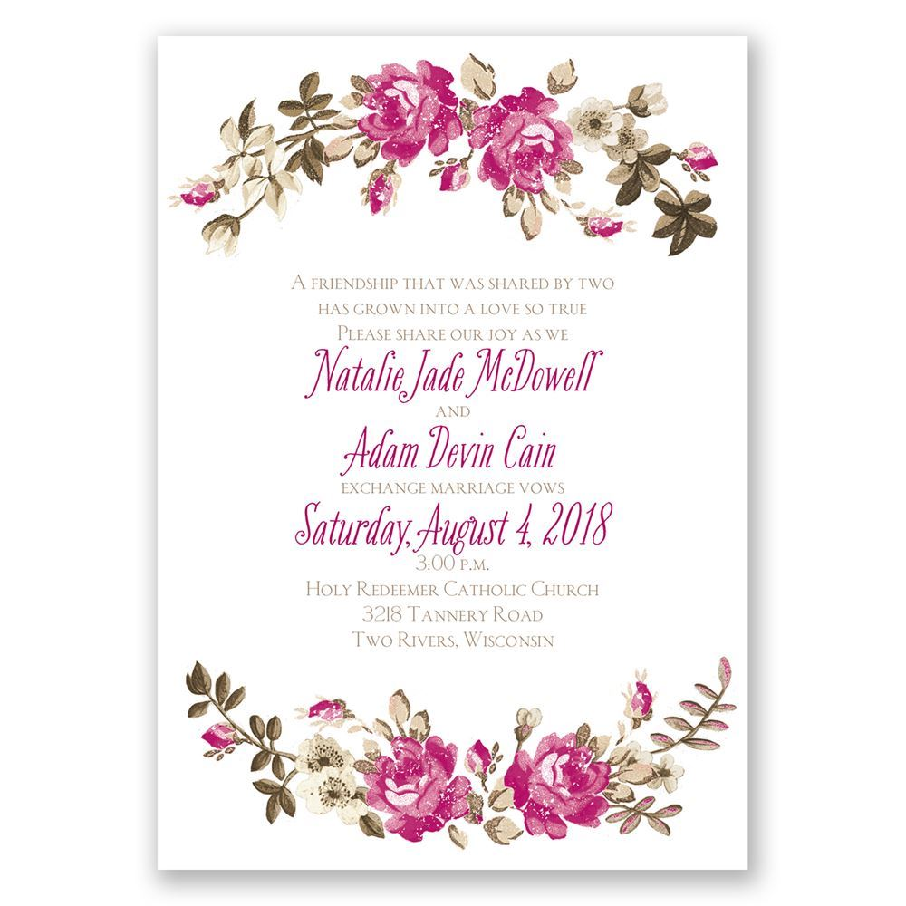 Floral Beauty Invitation Invitations By Dawn