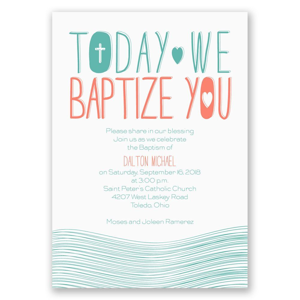 Blessed Waters Baptism Invitation Invitations By Dawn