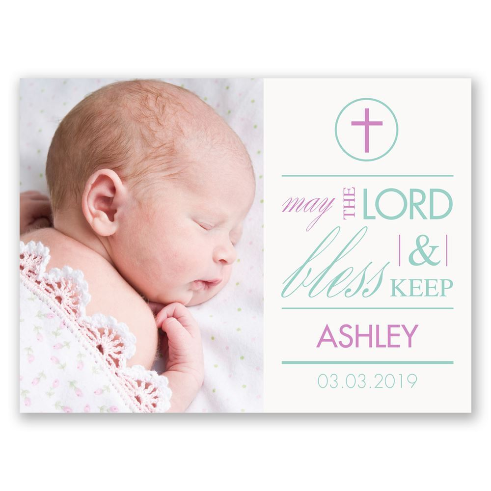 God Bless Petite Baptism Invitation Invitations By Dawn