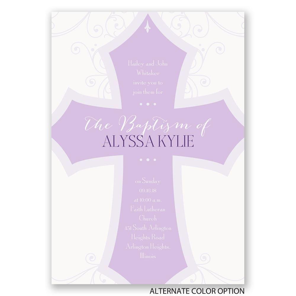 bold cross baptism invitation