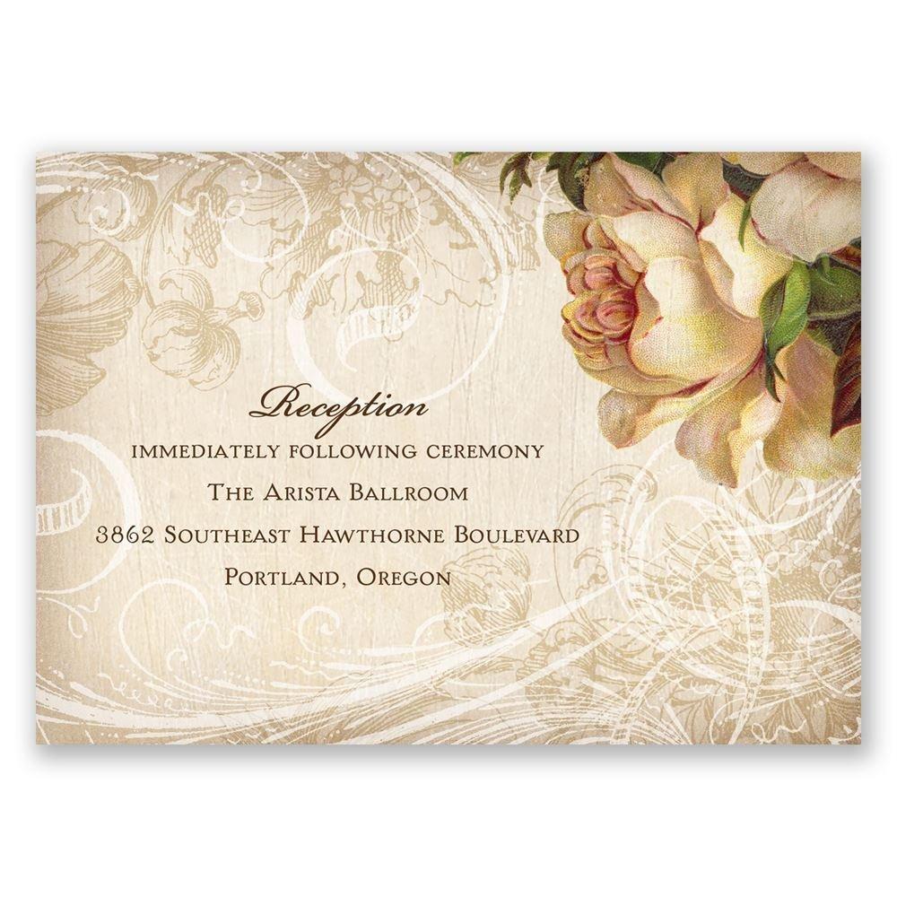 boho flowers reception card