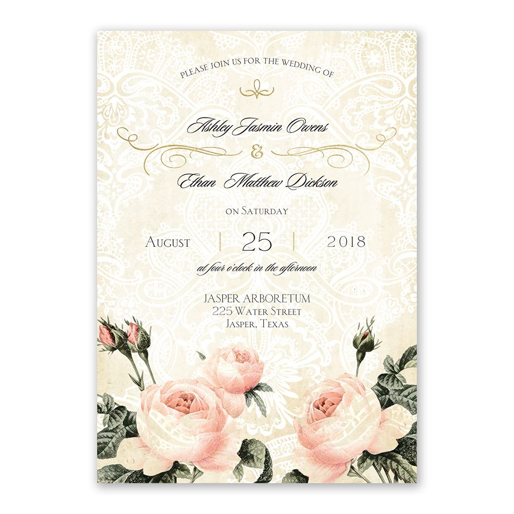 Vintage Garden Foil Invitation Invitations By Dawn