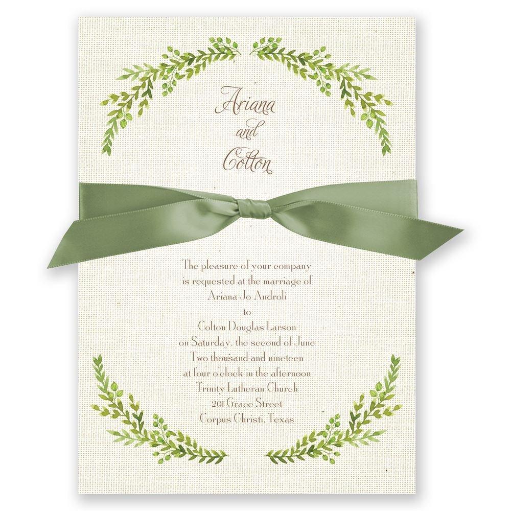 Burlap And Leaves Invitation: Olive Leaf Wedding Invitation At Websimilar.org