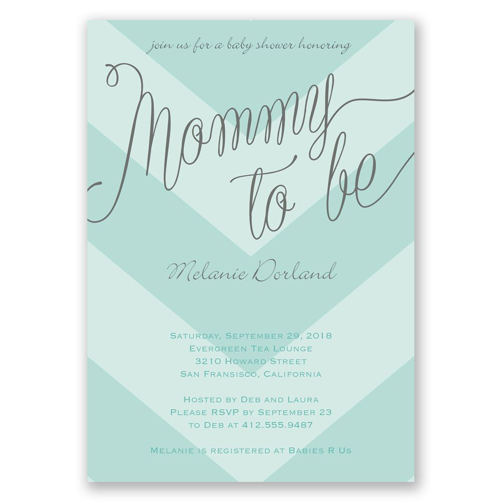 bold chevron baby shower invitation invitations by dawn