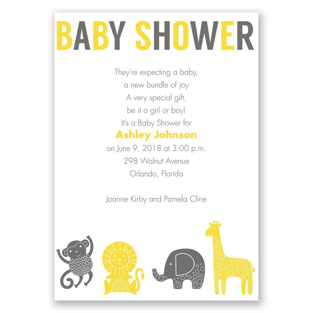 Jungle Jam Baby Shower Invitation