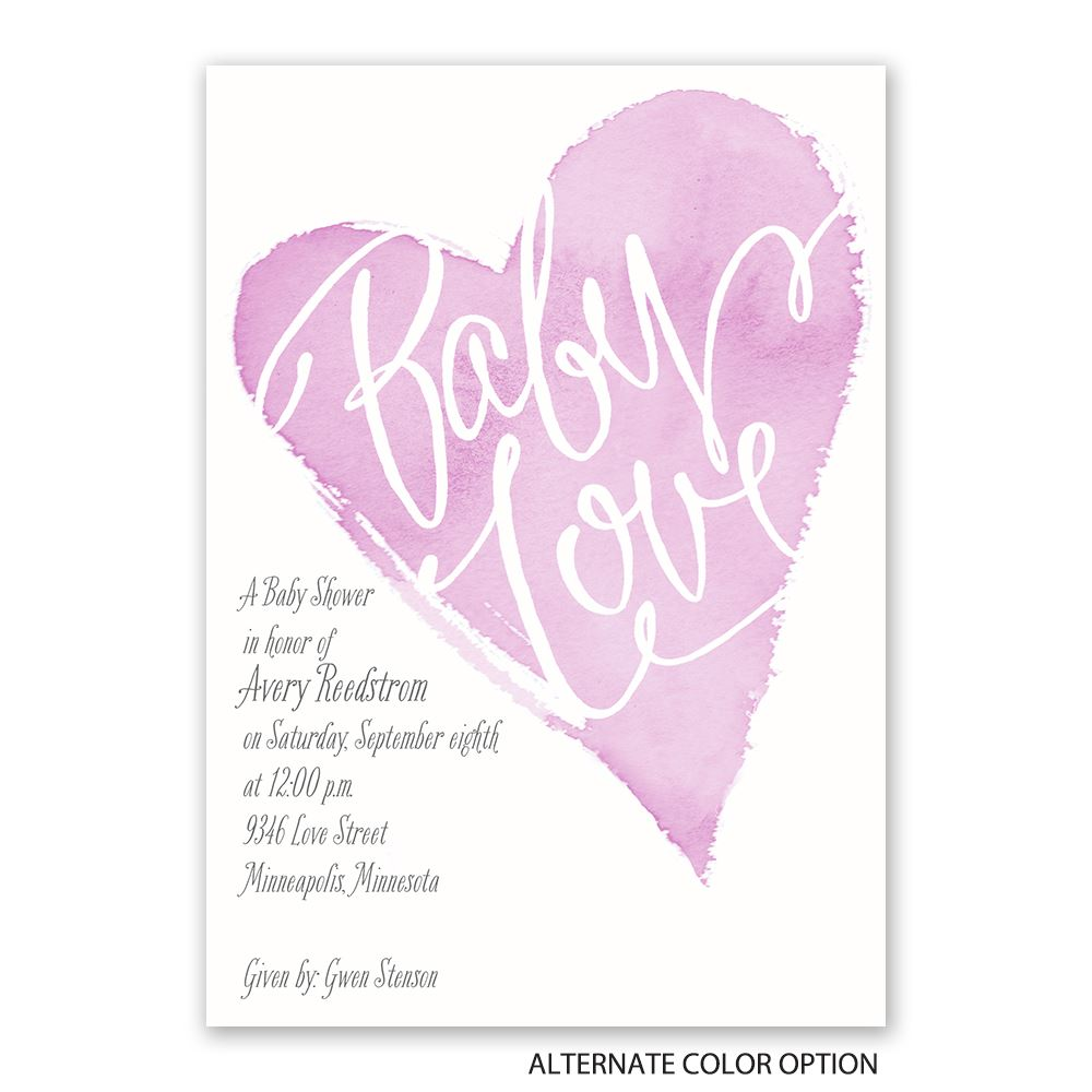 All My Heart Baby Shower Invitation | Invitations By Dawn
