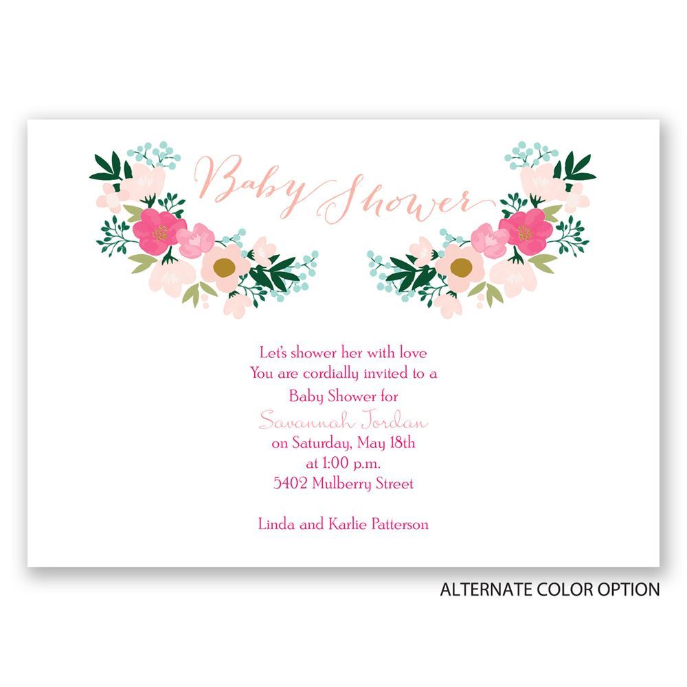 Delicate Flowers Baby Shower Invitation Invitations By Dawn