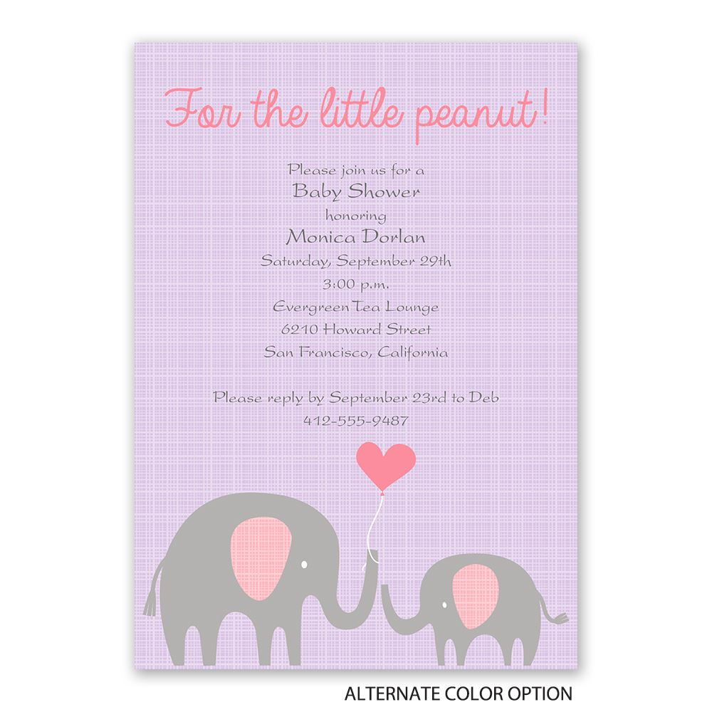 Little Peanut Baby Shower Invitation | Invitations By Dawn