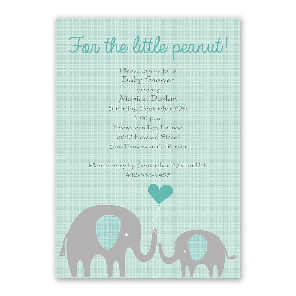 little peanut baby shower invitation invitations by dawn