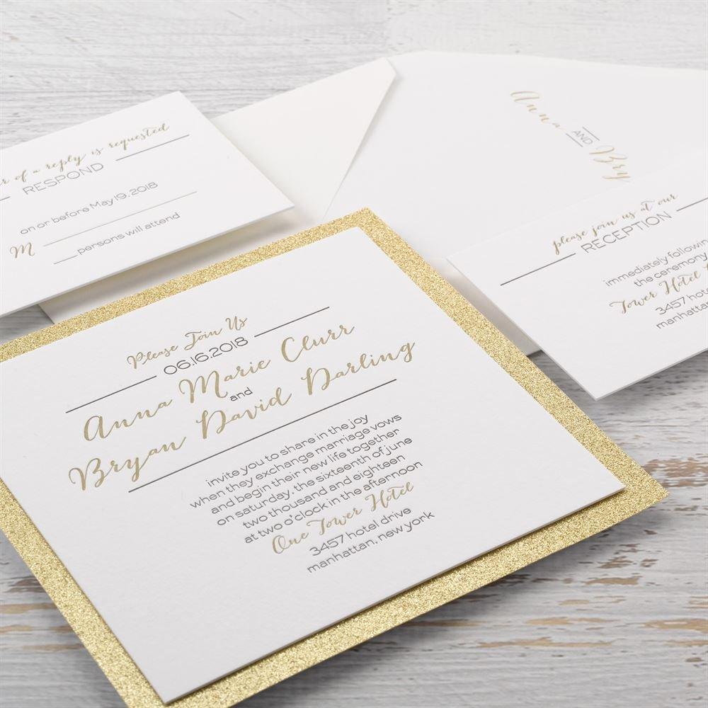 Bold & Gold Letterpress Invitation