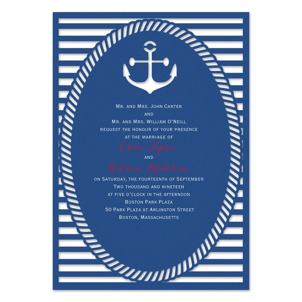 nautical style laser cut invitation invitations by dawn
