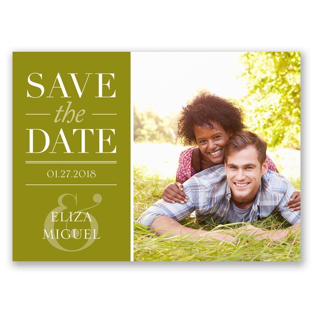 big plans save the date postcard