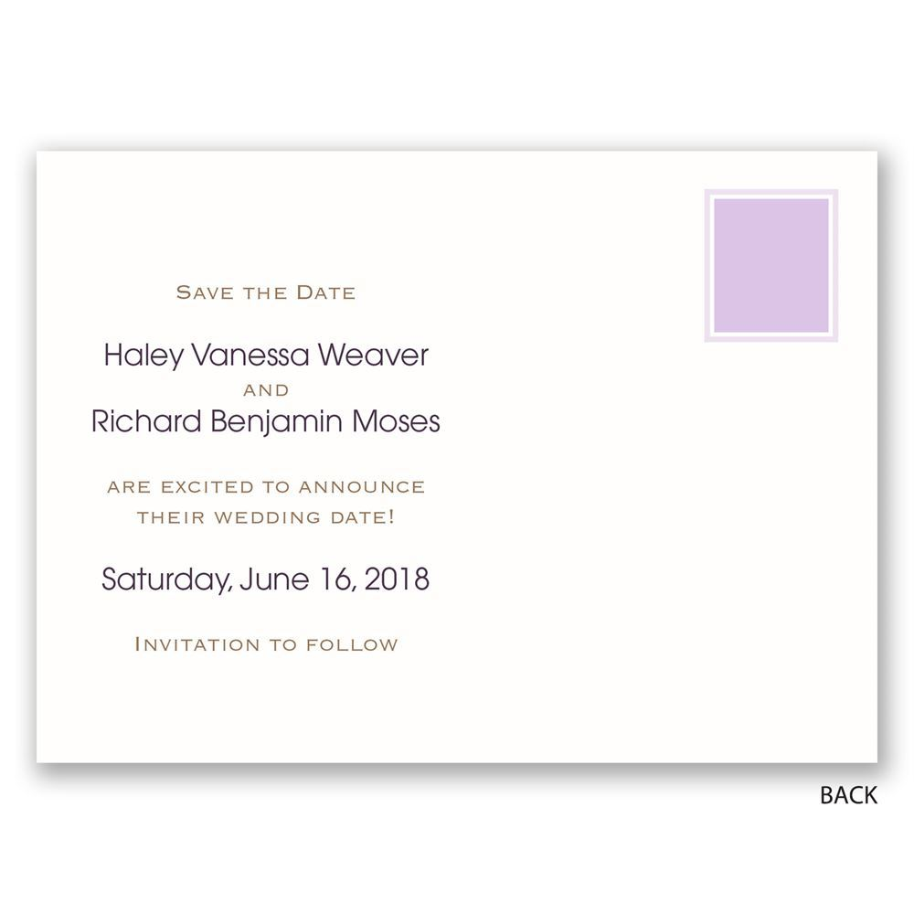 Simple Style Save the Date Postcard   Invitations by Dawn