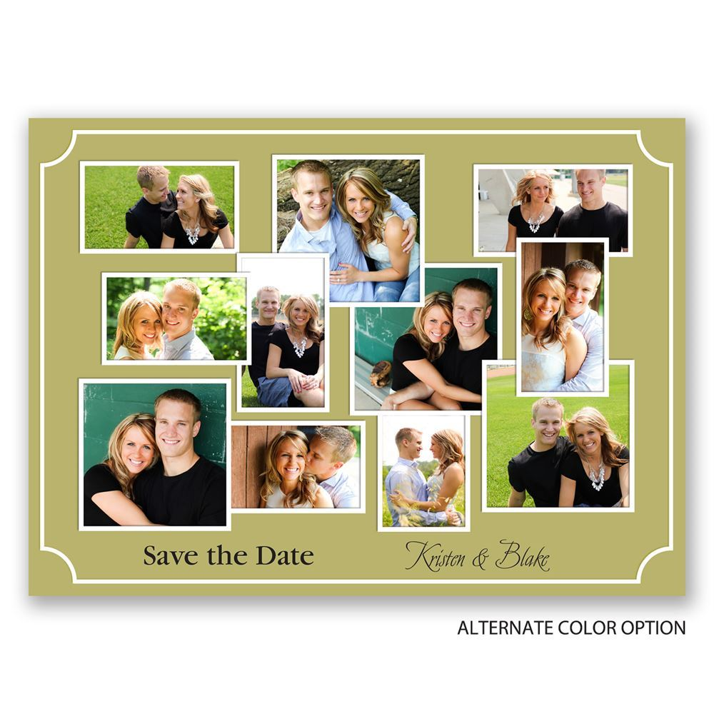 Photo Wall Save the Date Postcard | Invitations by Dawn