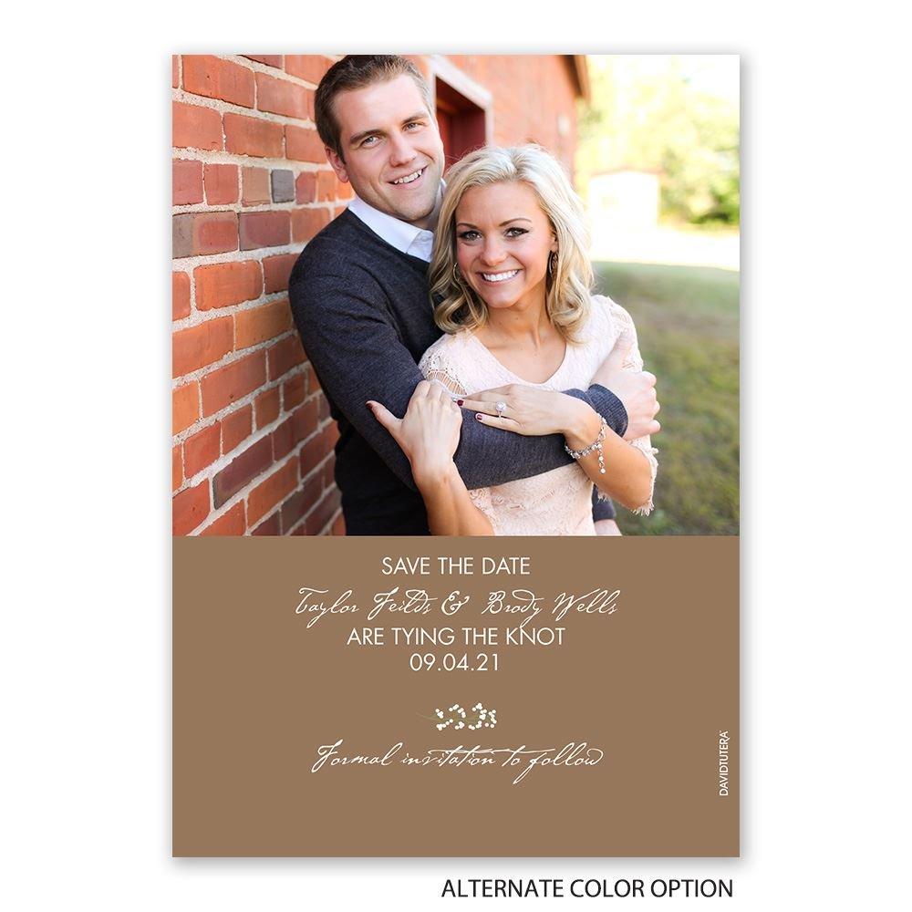 Save The Date Wedding Invitation Ornaments Save The Date: Wedding Wreath Holiday Card Save The Date