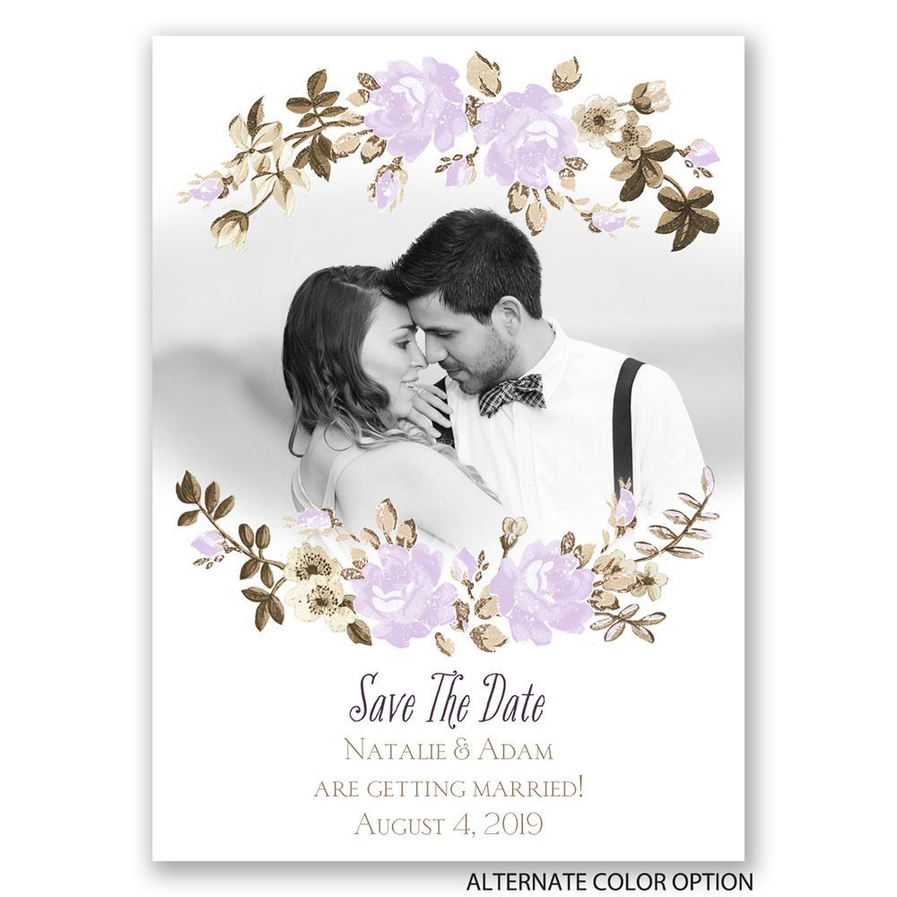 Floral Beauty Save the Date Magnet   Invitations By Dawn