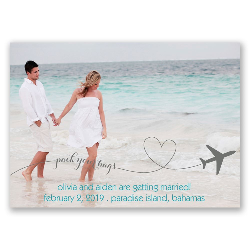 Lets Jet Save the Date Magnet Invitations By Dawn