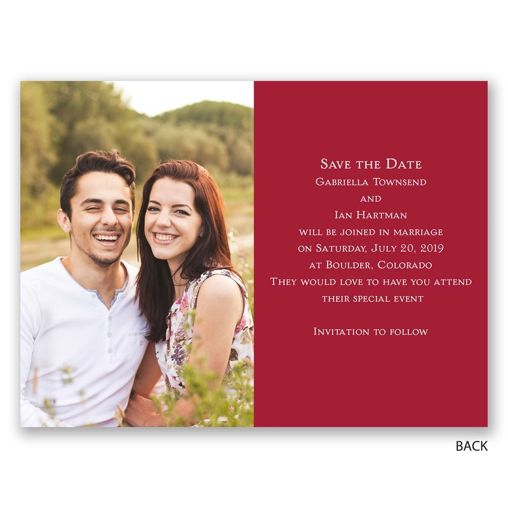 Bright Banner Foil Save the Date Card   Invitations by Dawn