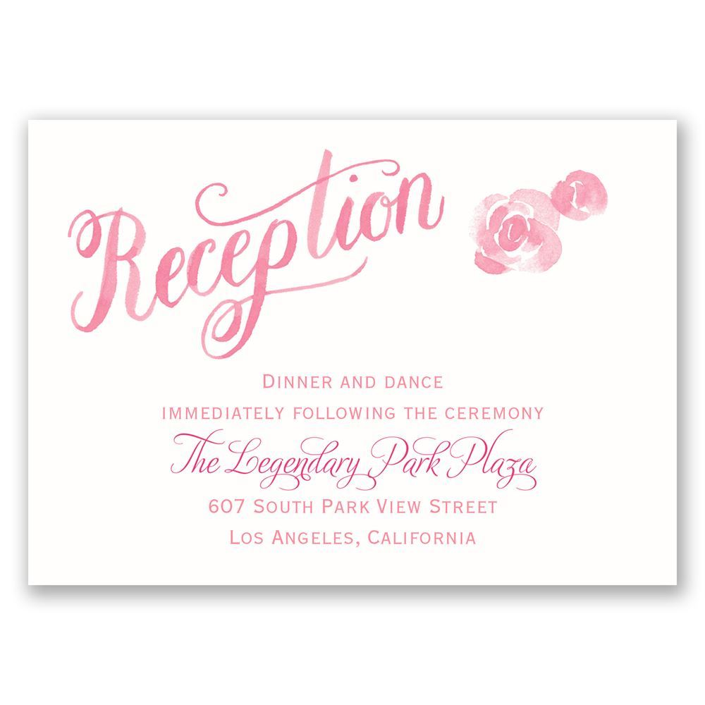 One Promise Reception Card | Invitations By Dawn