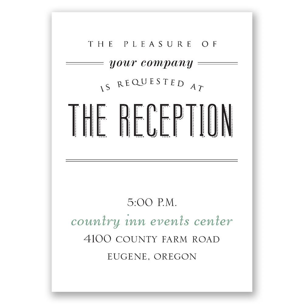 A Wedding Celebration Reception Card Invitations By Dawn