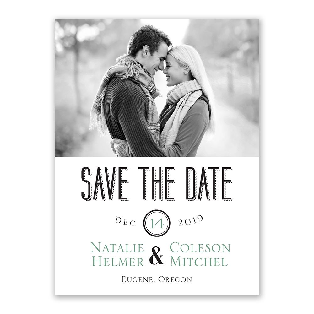 A Wedding Celebration Save the Date Card | Invitations By Dawn