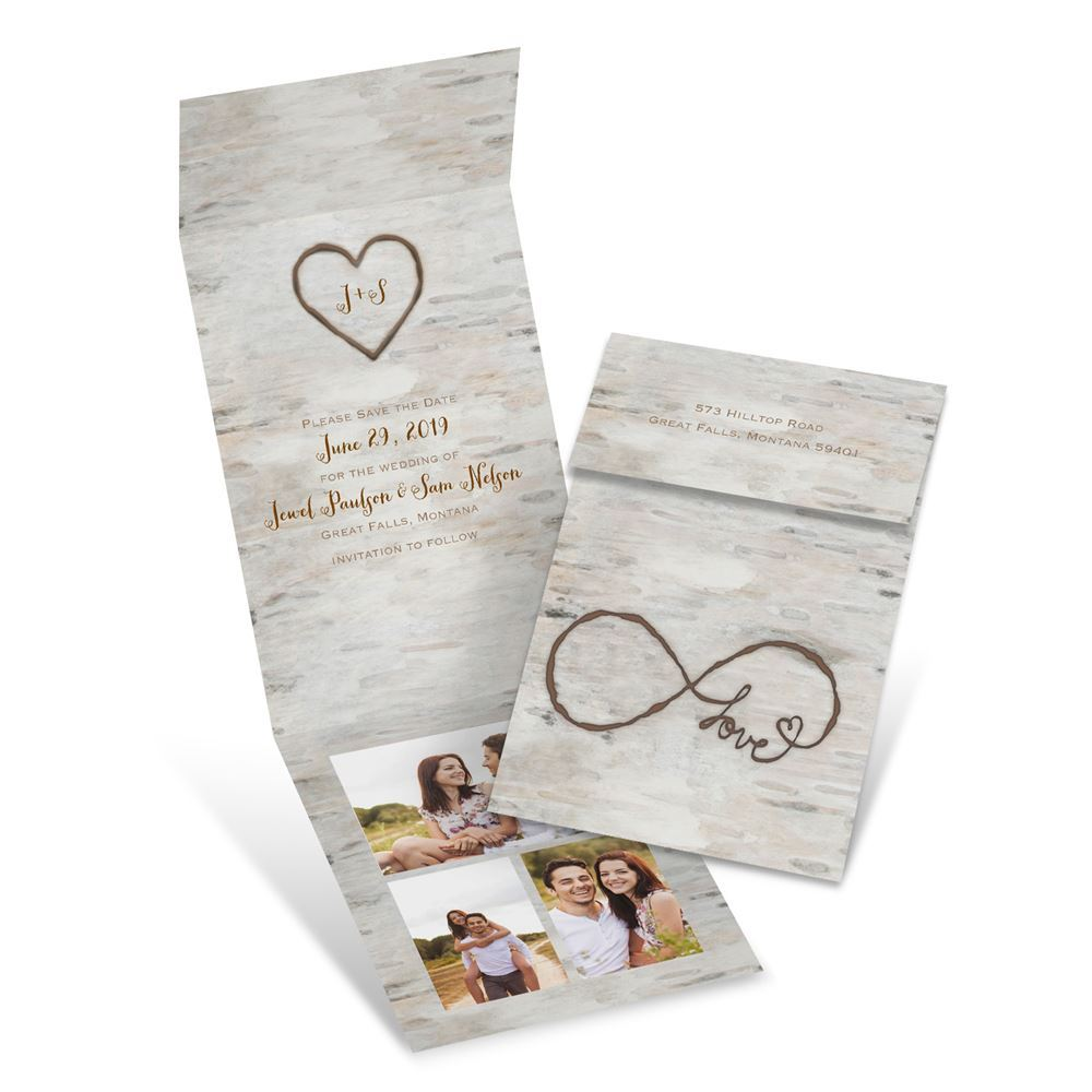 Love for Infinity Fold Up Save the Date | Invitations By Dawn